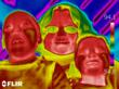 Infrared photo of Hephzibah House children taken with Priority Energy's thermal imaging camera