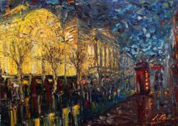 Impressionist Oil Painting of the Royal Opera House