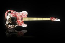 Officially Licensed Bettie Page Guitar by Halo Custom Guitars