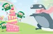 Still of animated birthday cake game e card for girls from Katie's Cards