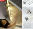 Several shapes of LED Extrusions designed to fit different applications