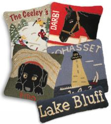 Chandler 4 Corners variety of personalized pillow designs