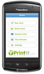 Electronic Business Card App Yprintit for IPhone and