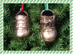 Something New - Bronzed Baby Shoes as Christmas Tree Ornaments