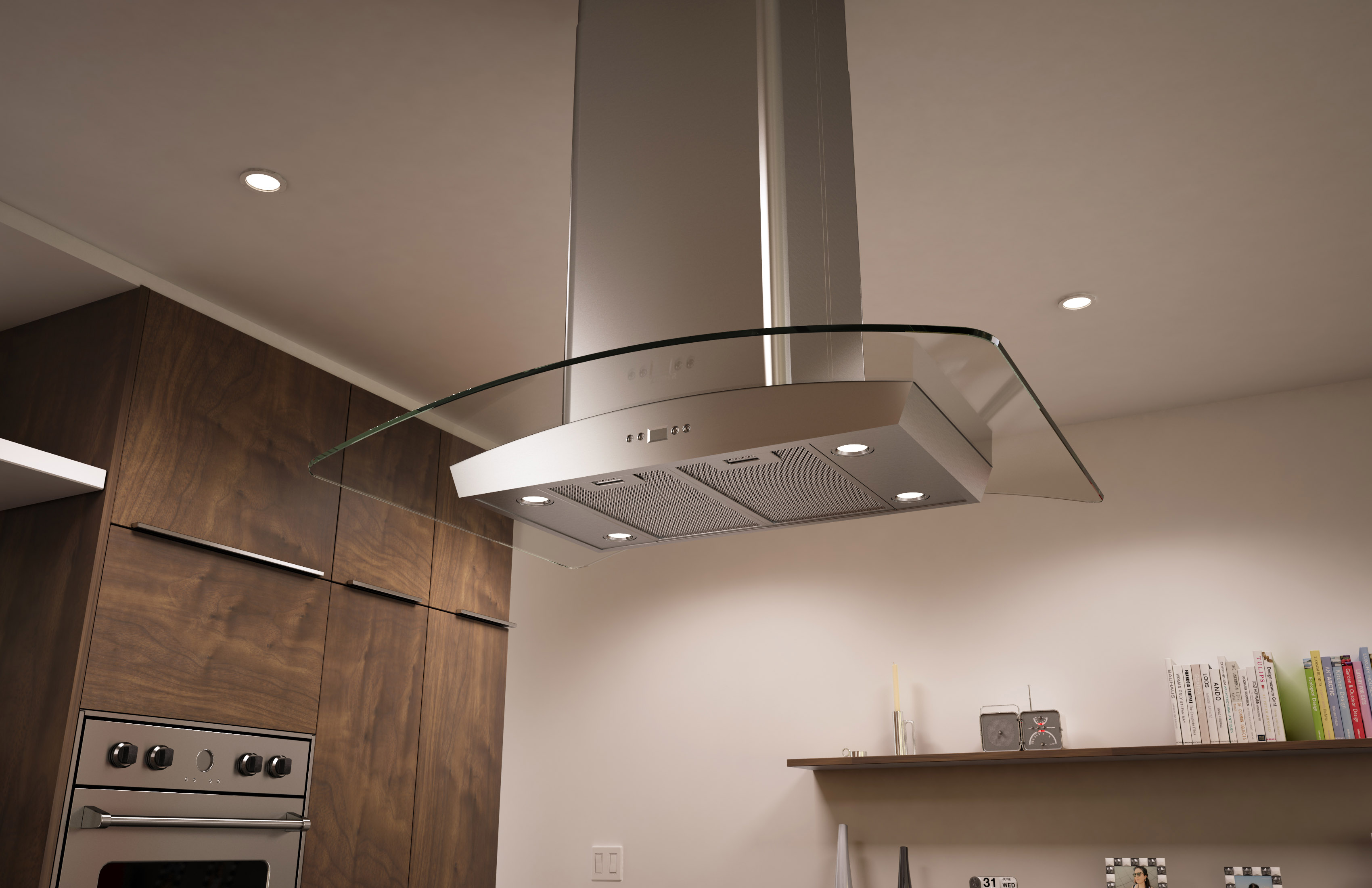 Milano Island Glass Range Hood maintains its classic curved canopy design; now with Zephyru0027s DCBL Suppression System.™ & Zephyr® Upgrades Its Core Collection u2013 Introduces Next Generation ...