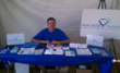 Kevin Smith, Vice-President of Karla Smith Foundation, in the Mental Illness Awareness Tent