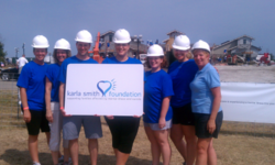 Volunteers from the Karla Smith Foundation on the set of Extreme Makeover: Home Edition in Kansas