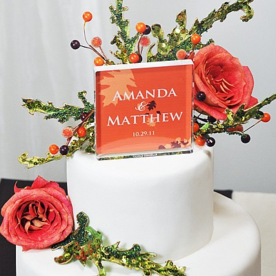 Perssonalized Fall Themed Wedding Cake Topper Outfit Your With Colorful New Favors And