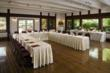 Harvest Inn's Napa Valley meeting room overlooks the neighboring vineyards