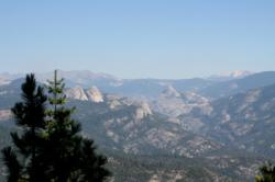 Mile High Overlook of the Sierra Vista Scenic Byway, called by some a Hidden Yosemite