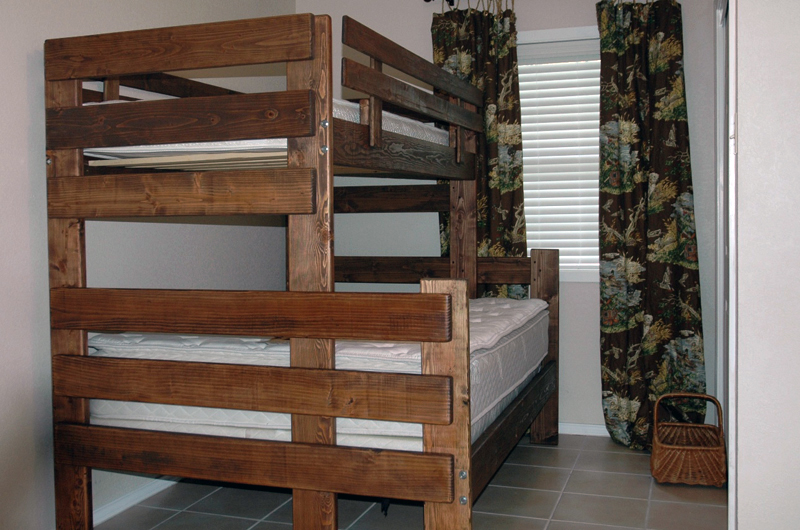 built in bunk bed plans twin over full