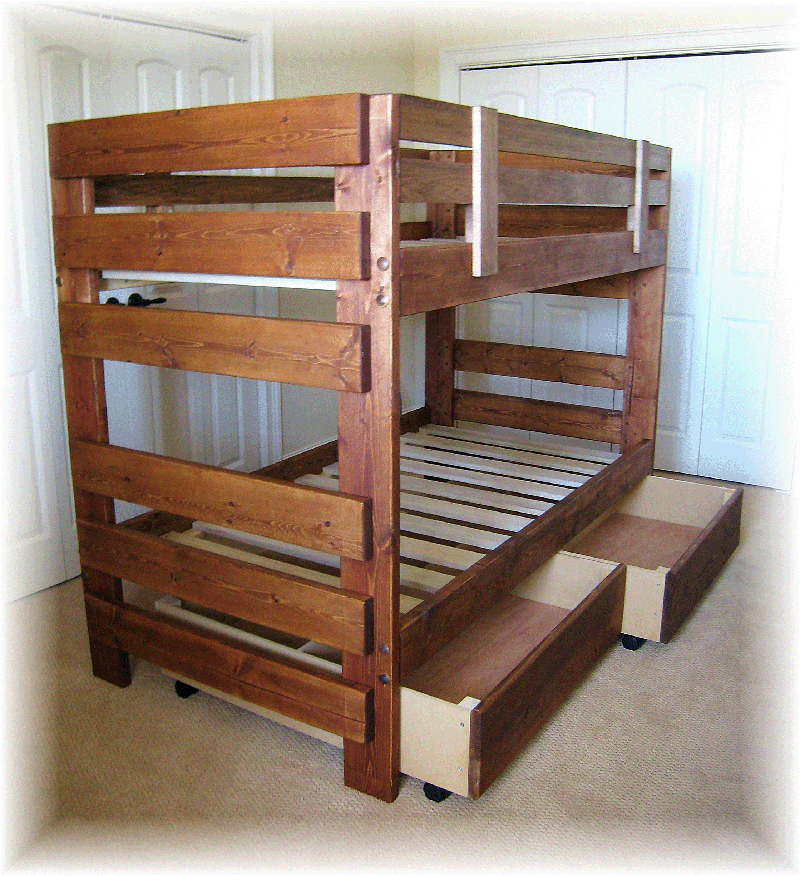 twin bunk bed woodworking plans