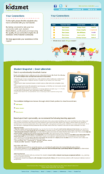 Kidzmet Classroom Account - Teacher's Dashboard