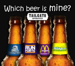 New football-themed BeerTAG® Bottle Markers are available for order online. Great for tailgating!