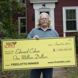 Edward Cohen wins $1 Million playing FreeLotto.com
