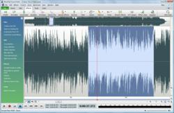 WavePad Audio Editor - software main window screenshot of version 5.0