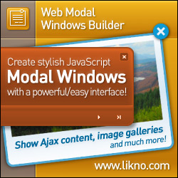 Create feature-rich modal windows/dialogs/popups for your websites with a WYSIWYG desktop application.