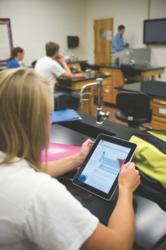 iPads help with FHU chemistry class.