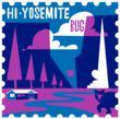 HI-Yosemite Bug Passport Stamp. Art by Michael Wertz. Design by Charette.