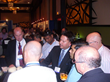 Dr. Atcha explains zygomatic dental implants (no jaw bone solution) to other Drs in a dental implant convention.