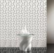 Infinity tiles play off light to create texture and depth.