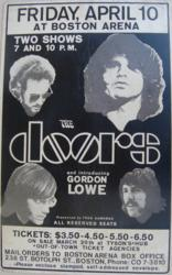 Jim Morrison and the Doors Boston Arena Concert Poster