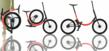Graphic Show Folding Sequence of Electric Folding Bike