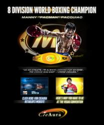 CieAura Manny Pacquiao Energy Bracelet Splash Page