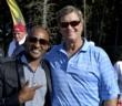 Raj Jackson Golf Entertainer with PGA Tour Legend Peter Jacobson as the Grand Opening of his new Rope Rider Golf Course at Suncadia Resort