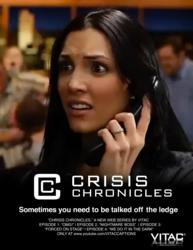 "Movie Poster depicting logo and image from VITAC's web series ""Crisis Chronicles"""