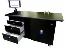 IonBench for mass spectrometry is shown here with optional drawers and adjustable arm for a flat screen monitor.