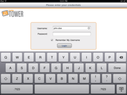 TOWER Mobile iPad Secure Login