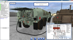 DiSTI professional services create HEMTT Virtual Trainer