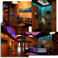 When you step into the office at Carolina Dental Arts, patients immediately notice that it is different from other dental practices. Patients are greeted with neon lights and flat screen televisions, which help establish a more relaxed atmosphere.
