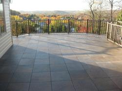 Tile placed onto the GratedeX® Outdoor Floor System™