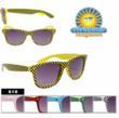 Checkered Print Wayfarer Sunglasses