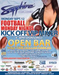 Football Monday Nights at Sapphire Las Vegas