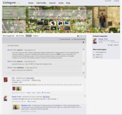 Livingrm profile page