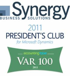 Microsoft President's Club 2011 and Accounting Today Top 100 VAR
