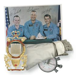This special offering features a unique blend of signed material and flight-flown objects — from space and historic terrestrial pursuits