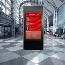 Access1's kiosk runs on a wireless network that uploads system metrics, viewer information, and polling results to a secure server on a minute by minute basis.