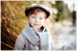 Autumn Boy Wearing Hat - NJ Child Photographer Christine DeSavino