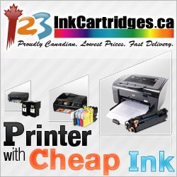Printer with Economic Ink Cartridges