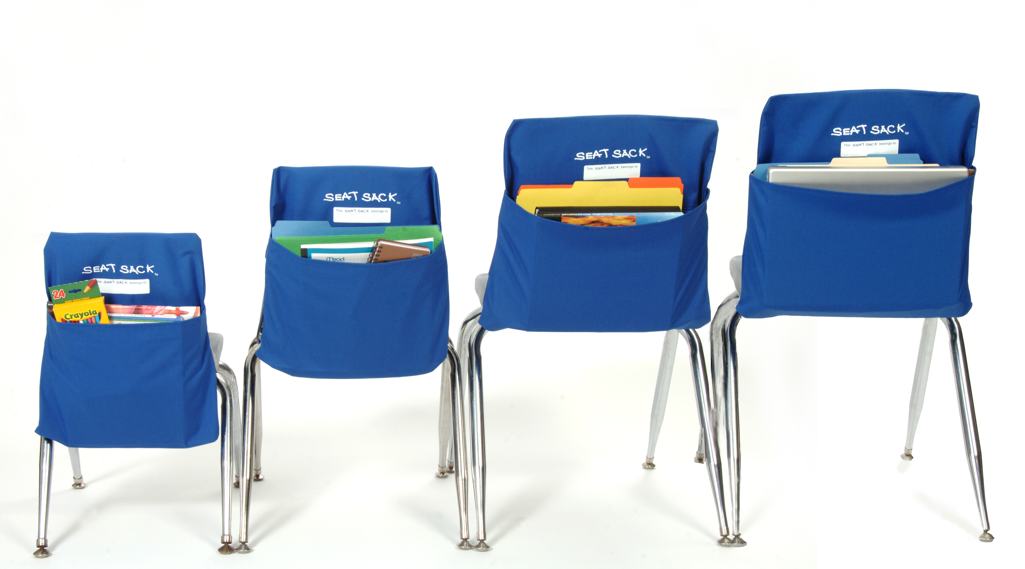 LARGE Classroom Chair Pockets Seat Sacks Desk Organizer Chair Bag ...