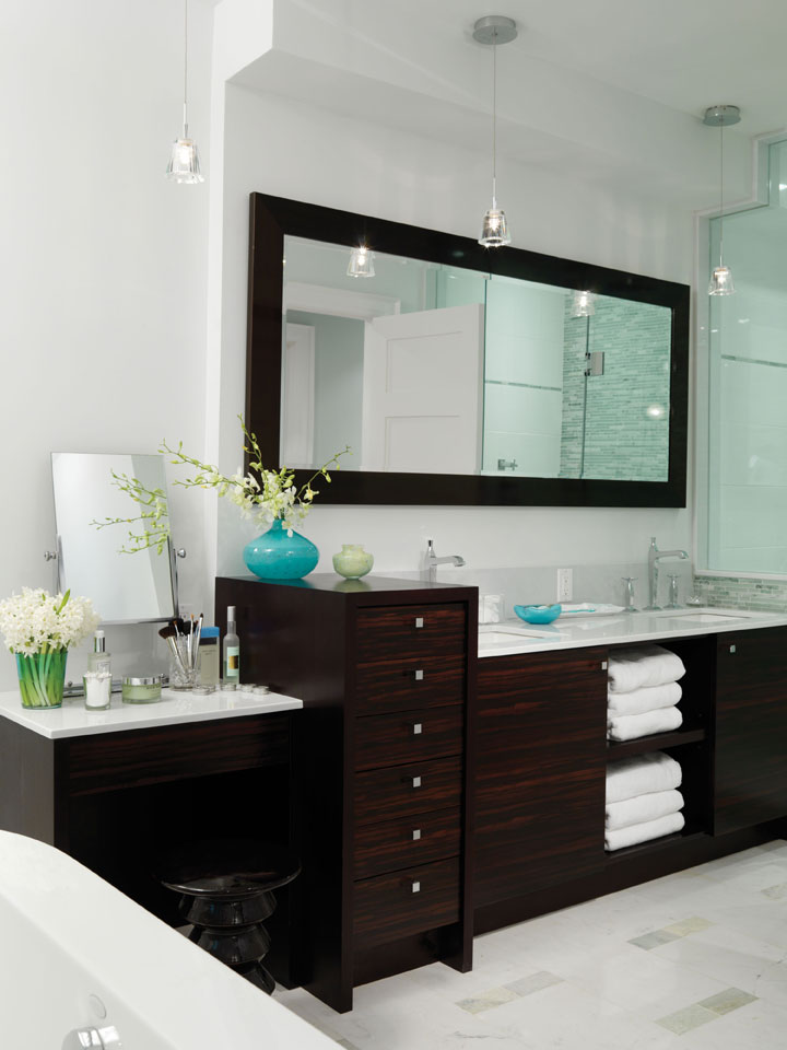 scintillio by alicotry hanging pendants on either side of a mirror instead of wall sconces for a fresh take on bathroom lighting bathroom lighting pendants