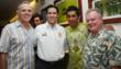 Guillermo Valencia of InterContinental Hotel, Mayor of Cozumel Aurelio Joaquin Gonzalez, soccer star Jorge Campos and actor Jack McGee