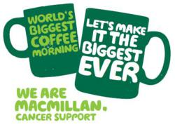 Jasper's teams up with Macmillan Cancer Support to break coffee morning records