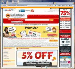 DollarsDays Website Powered by EasyAsk