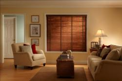 Woven Reed Blinds from Budget Blinds offer the popular look of woven wood shades with the added light and privacy control of traditional blinds.