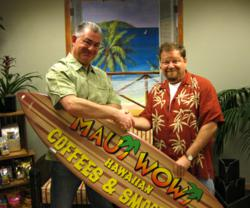 Master Franchisee, Paul Hickey and Michael Haith CEO Maui Wowi Hawaiian